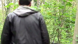 Outdoor fuck with cum in mouth