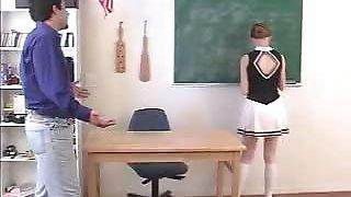 Brunette Cheerleader Spanked