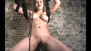 Extreme machine anal gape Huge dildo