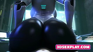 Animated Nude Babes Sucks and Rides on a Huge Massive Dick