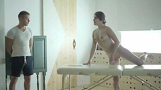 Teeny Lovers - Big oiled cock brings pleasure