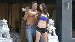 Horny Bitch Fucking in Gym