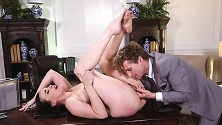 Dirty secretary shows a lot of useful skills to her boss