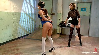 Amazing lesbian, fisting adult video with best pornstars Gia DiMarco and Maitresse Madeline Marlowe from Whippedass
