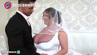 Busty bride fucking big cock