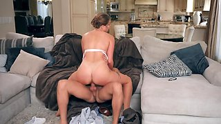 Dirty housewife is taking a hard dicking by that neighbor