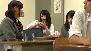 Teacher Showing Schoolgirls who the boss is in class, CREAMPIE Student