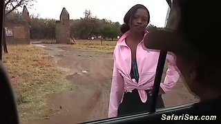 african babe picked up for car sex