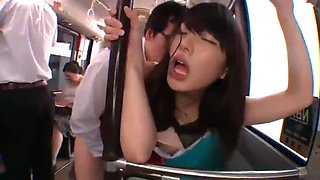 Grope japanese on bus