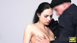 Picked up whore Leanne Lace is taken to jail and fucked brutally