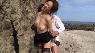 Exotic Japanese slut Kei Marimura in Horny Outdoor, Beach JAV video