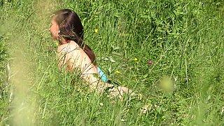 Jeny Smith sun bath naked in public