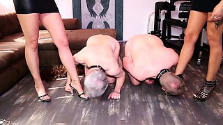 German Femdom Domination Spit and Smoking Session