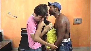 stunning ebony bisexual threesome