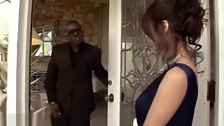 Glamorous Japanese Babe Gangbanged by Big Black Cock to Multiple Creampies