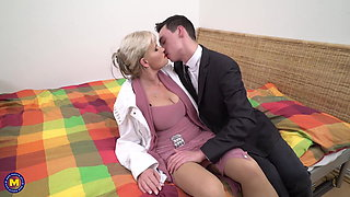 Taboo sex son seduce lovely mature mother