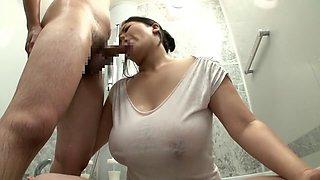 Horny Japanese girl in Amazing Mature, HD JAV video