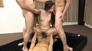 Hottest pornstar in amazing dildos/toys, gangbang adult clip