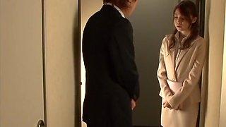 Nasty Kurumi begs her boss to fuck her