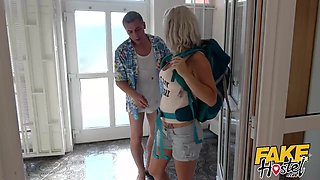 Fake Hostel - Freckle faced girl with nice ass creeped on