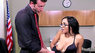 A horny schoolgirl is penetrated by her perverted teacher