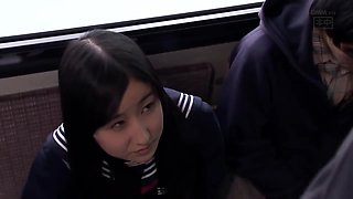 Creampied on Bus