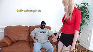 Mistress Alexis tall blonde Dominatrix punishes