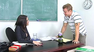 Young man dreams of affairs with his hot teacher and that woman loves dick