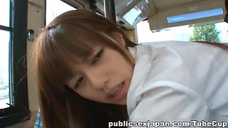 Gorgeous Teen Rina Rukawa Fucked Up Her Skirt On A Bus