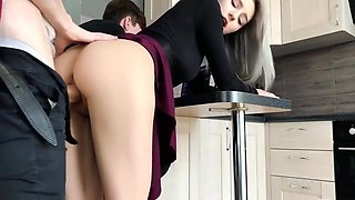 Stepsister get fucked by friend while brother is gaming