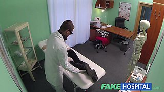 Spy on agreeable legal age teenager sluggishly tempted and takes creampie from the doctor