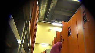 Girls caught on a spy camera in a locker room