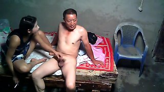 18 Year old Asian Prostitute And Happy Client