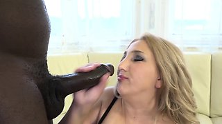 Black man fucks mature BBW chubby pussy and anal fuck