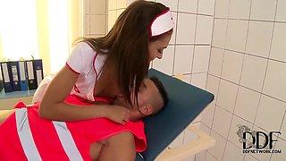 Nurse to the rescue. Staring Alexis Brill.