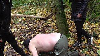 cruel german ladies whip old slave outdoor brutal