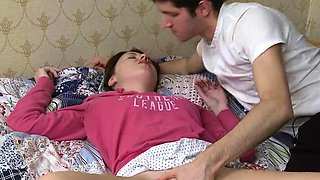 Teen is moaning as she gives stud a hard 10-pounder riding