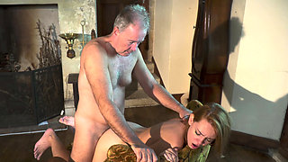 Babe paying family debts with sex