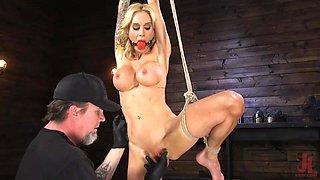 busty sarah jessie was bound and punished