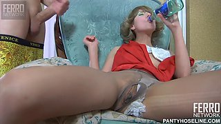 Drunk girlfriend with hungry pussy