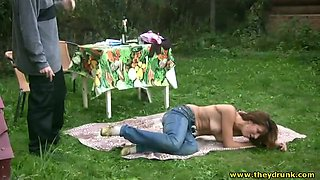 Horny dude helps his lustful girlfriend to get naked