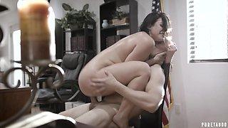 Big titted MILF secretary gets naughty and fucks her boss