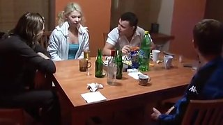 Friends drunk a Russian student and had sex with her in all holes - real shooting
