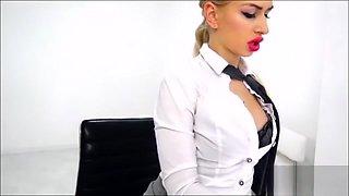 Webcam porn secretary hot as hell