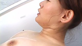 Rina Wakamiya with hot ass and huge tits gets fucked