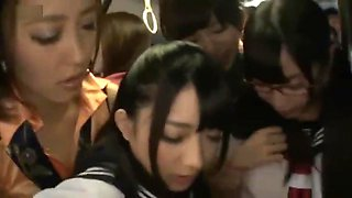 [ Japanese ] Lesbian Force and Fuck Schoolgirl in the Bus