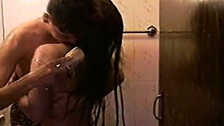 Indian College Girls Step Sisters Showering Together