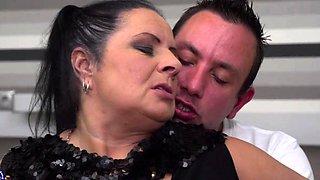 German chubby mature Abby sucking and fucking