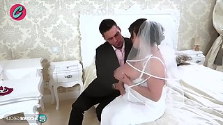 Big tits bride and big cock