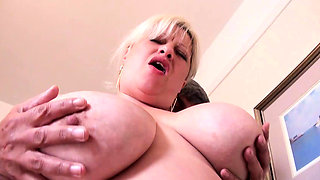 Old busty big wife fucked and bottled by partygoer